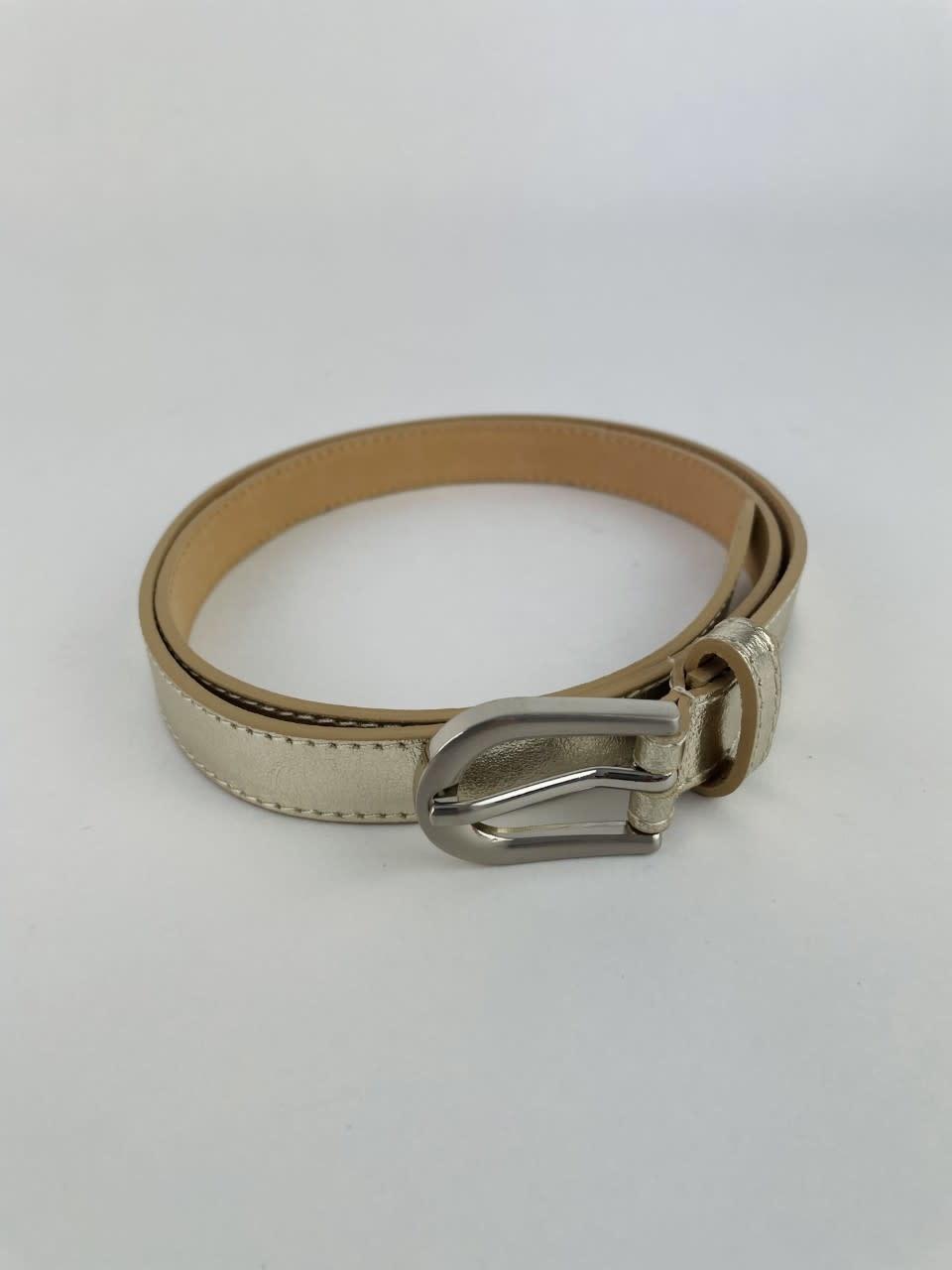 Etna metalic  genuine belt Gold-5
