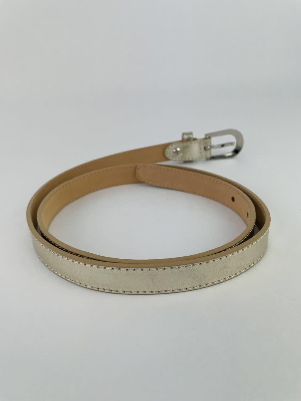 Etna metalic  genuine belt Gold-6