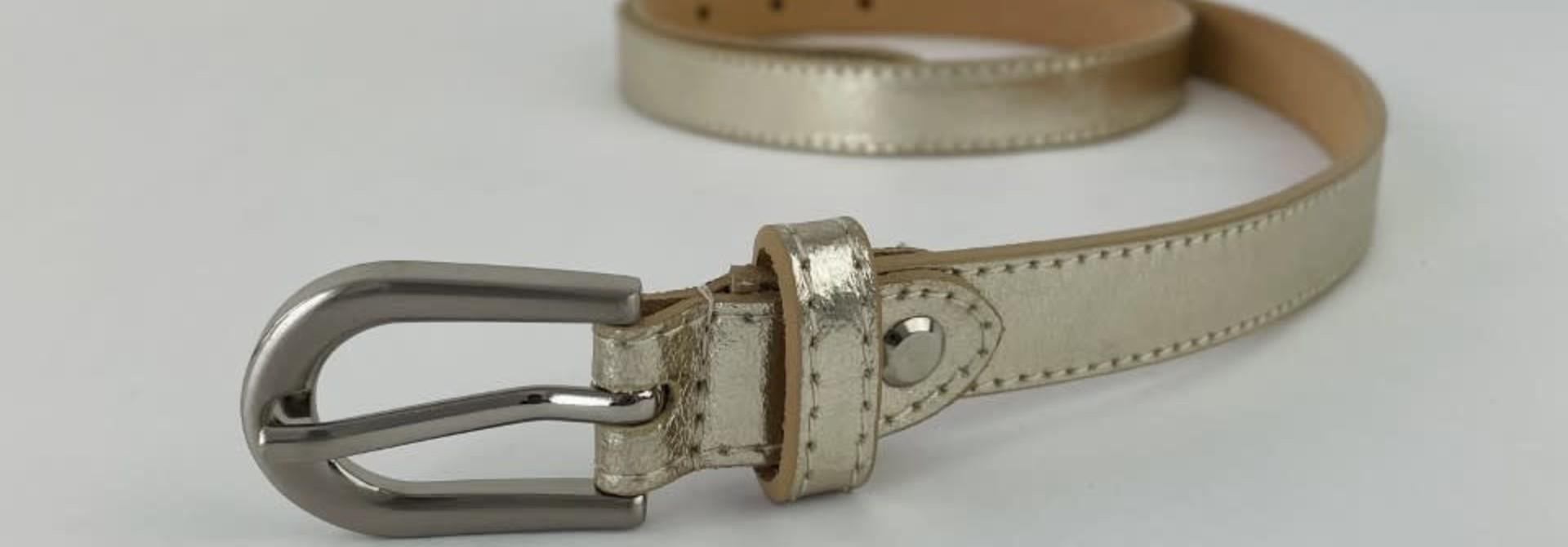 Etna metalic  genuine belt Gold