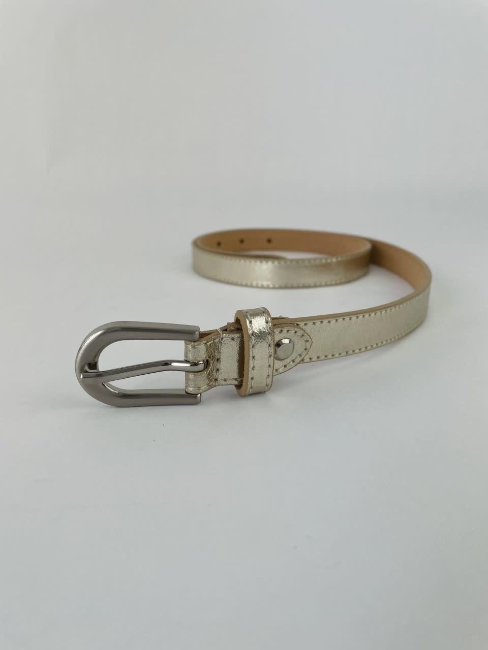 Etna metalic  genuine belt Gold-1