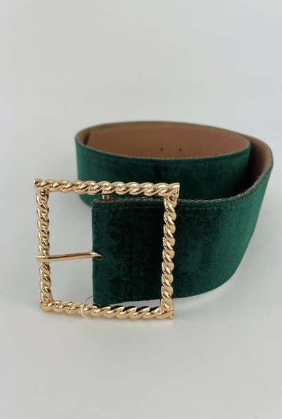 Ebony velvet statement belt Pine