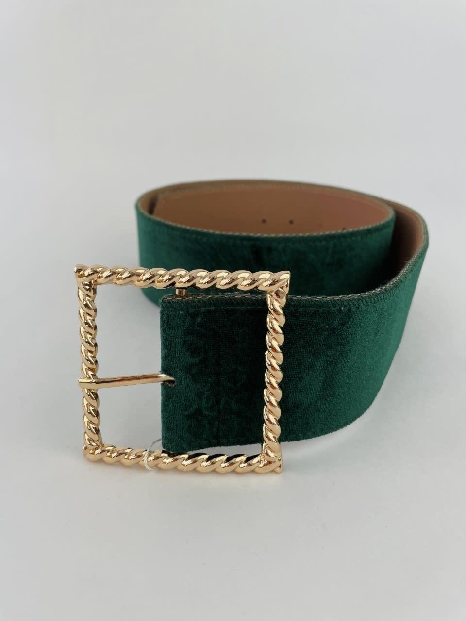 Ebony velvet statement belt Pine-1