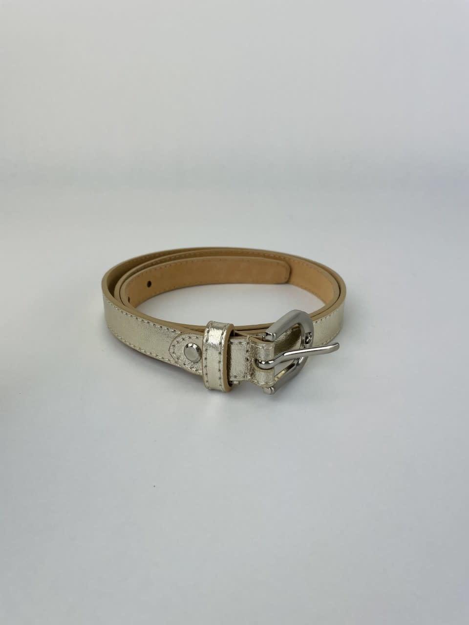 Etna metalic  genuine belt Gold-2