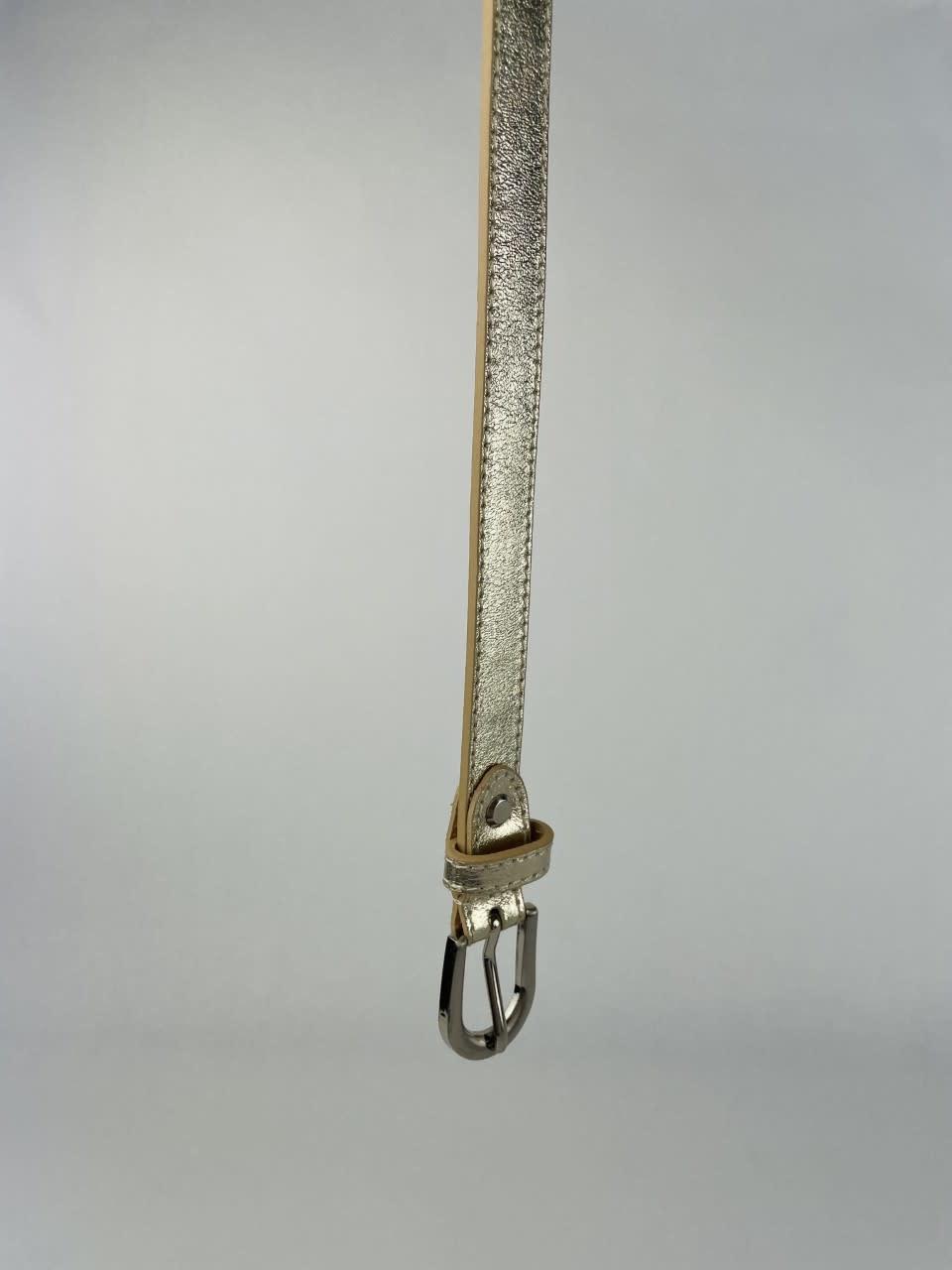 Etna metalic  genuine belt Gold-4