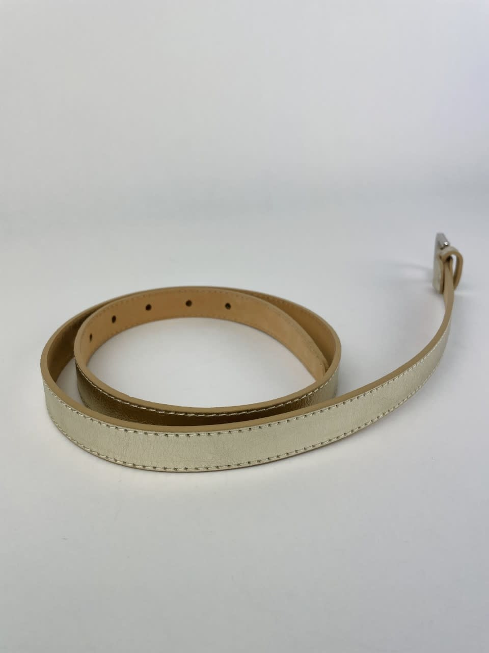 Etna metalic  genuine belt Gold-7