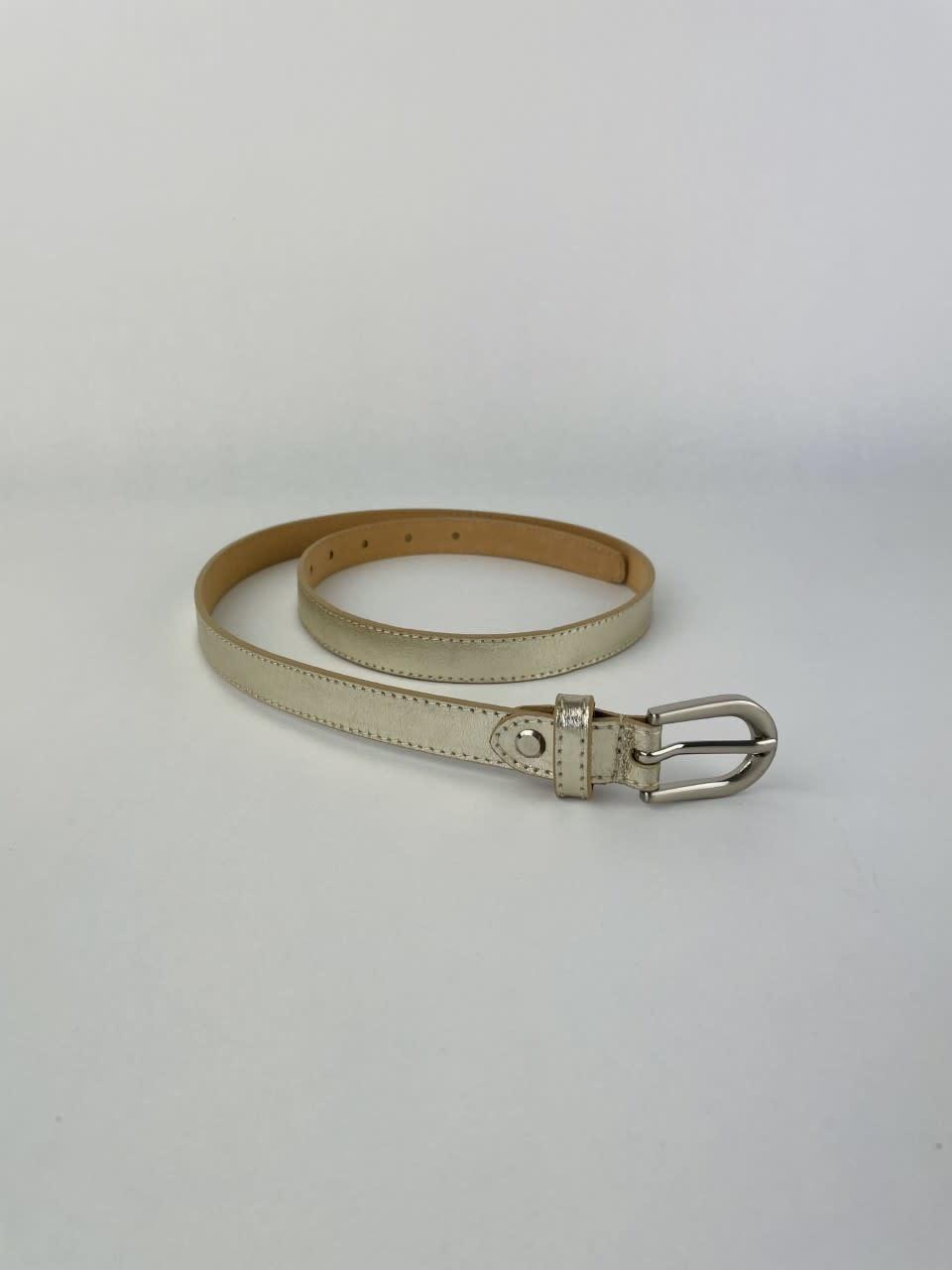 Etna metalic  genuine belt Gold-3
