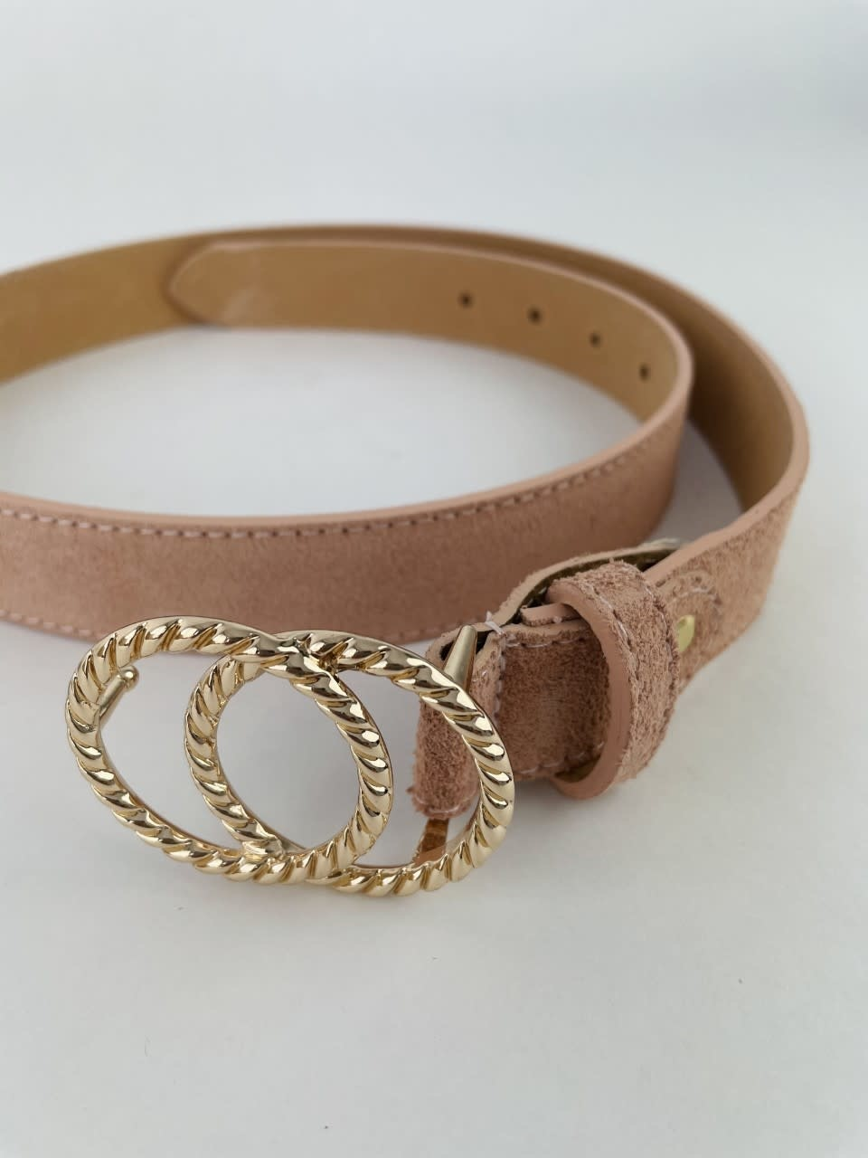 Cassidy diam leather belt Pink-3