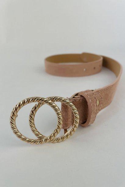 Cassidy diam leather belt Pink