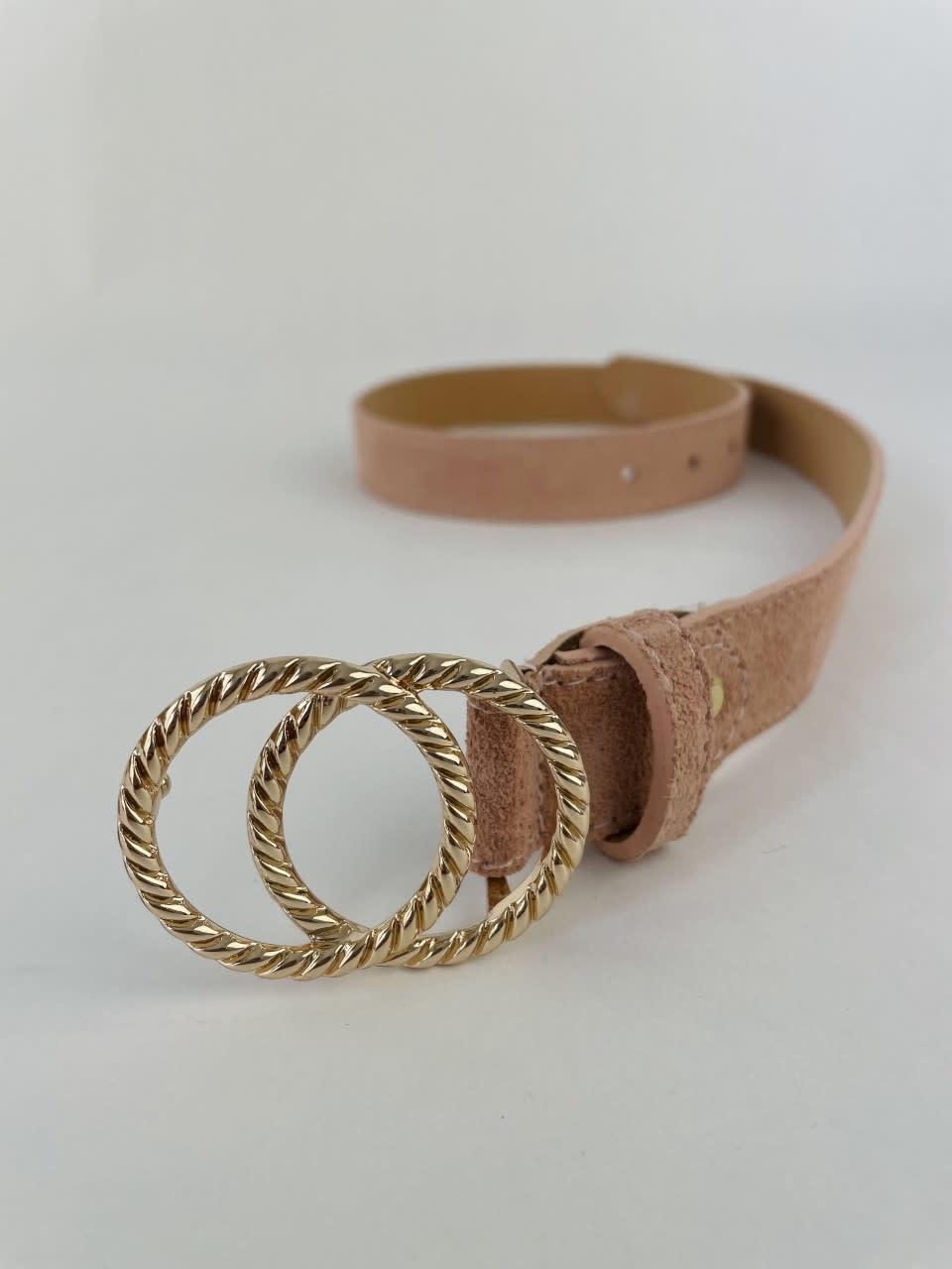 Cassidy diam leather belt Pink-1
