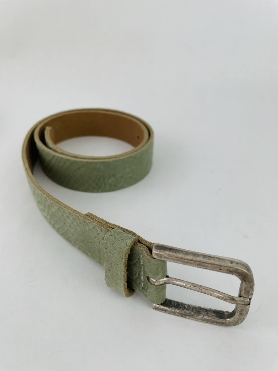Sneaya leather belt Khaki-1