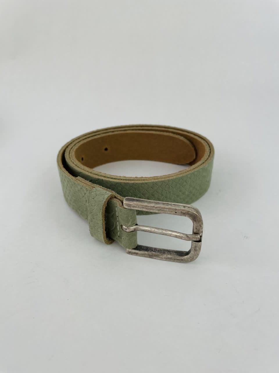 Sneaya leather belt Khaki-2
