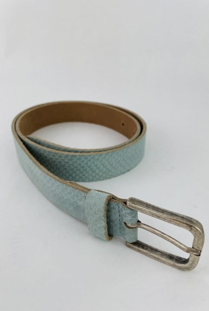 Sneaya leather belt Ash Blue