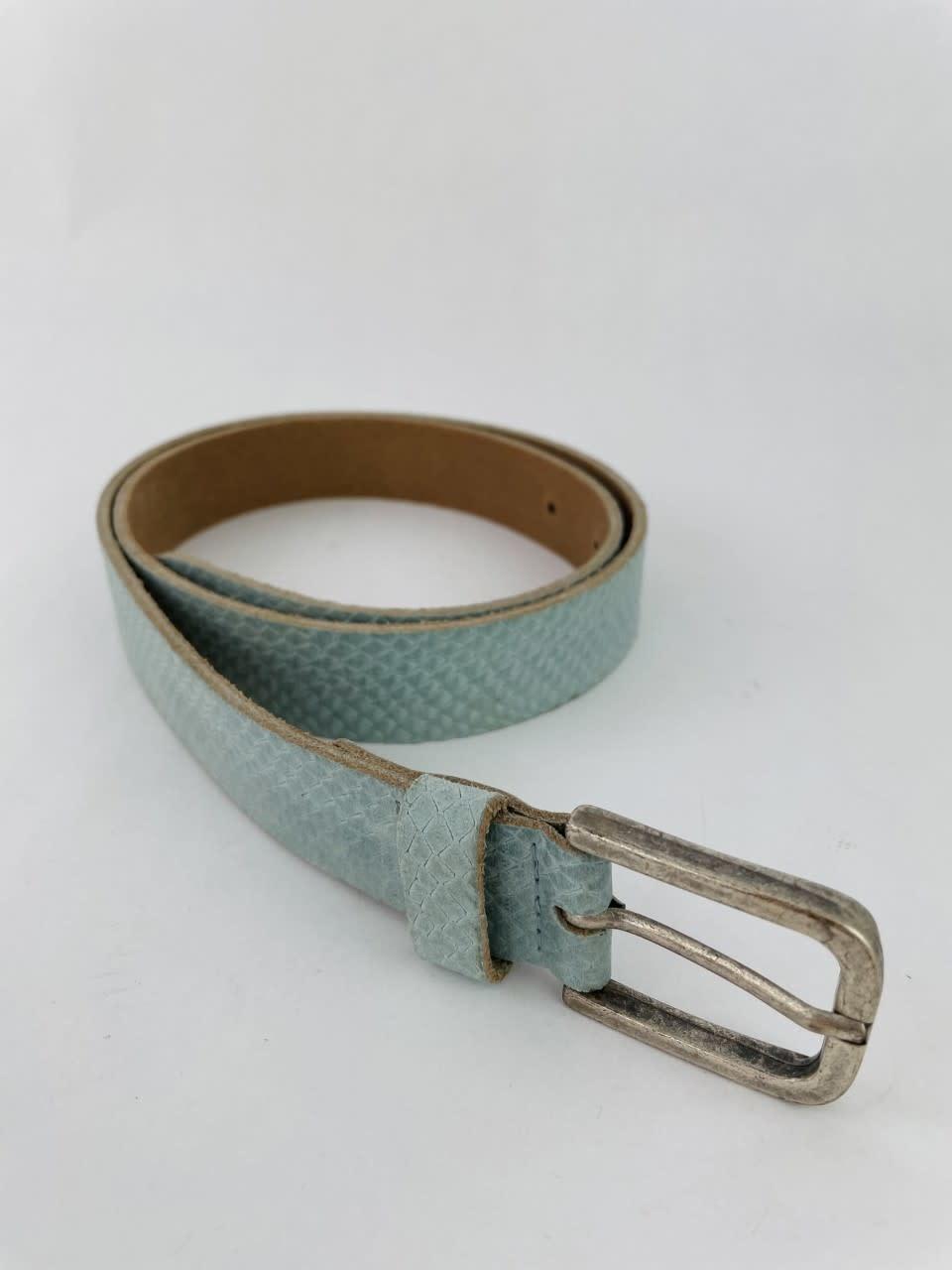 Sneaya leather belt Ash Blue-1