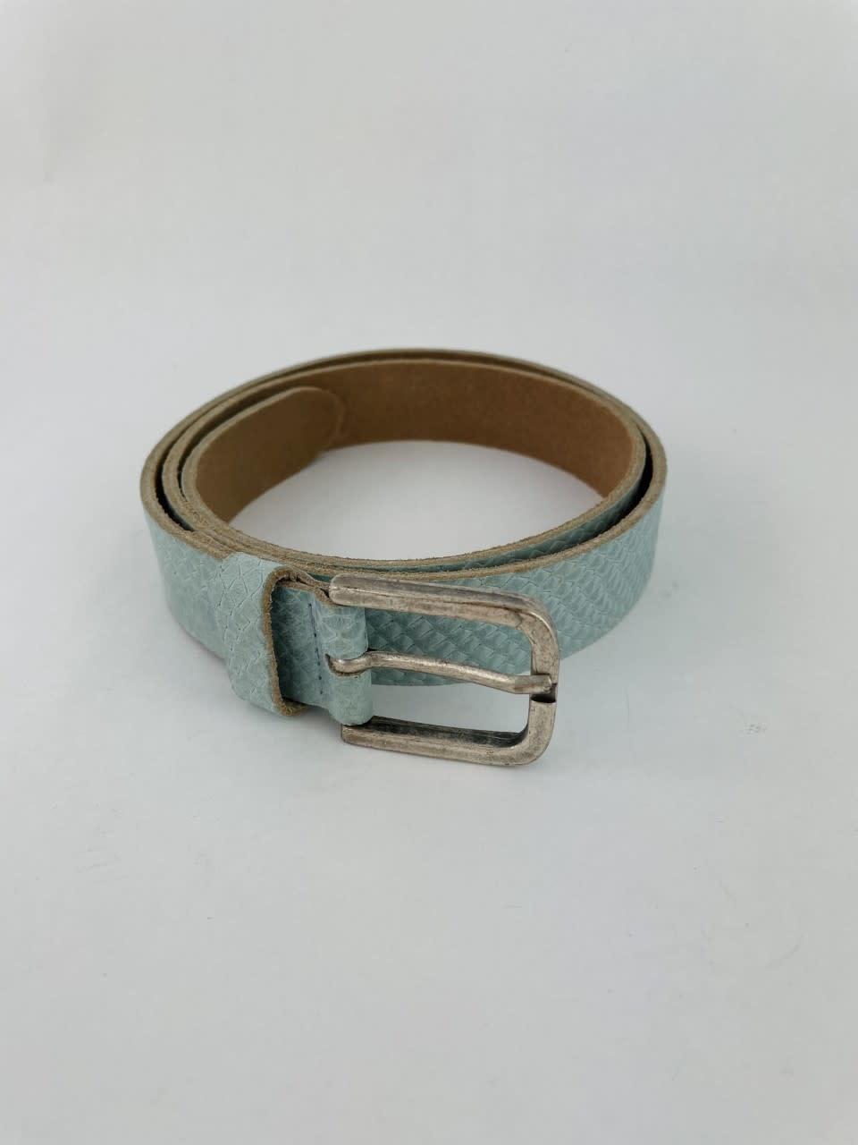 Sneaya leather belt Ash Blue-2