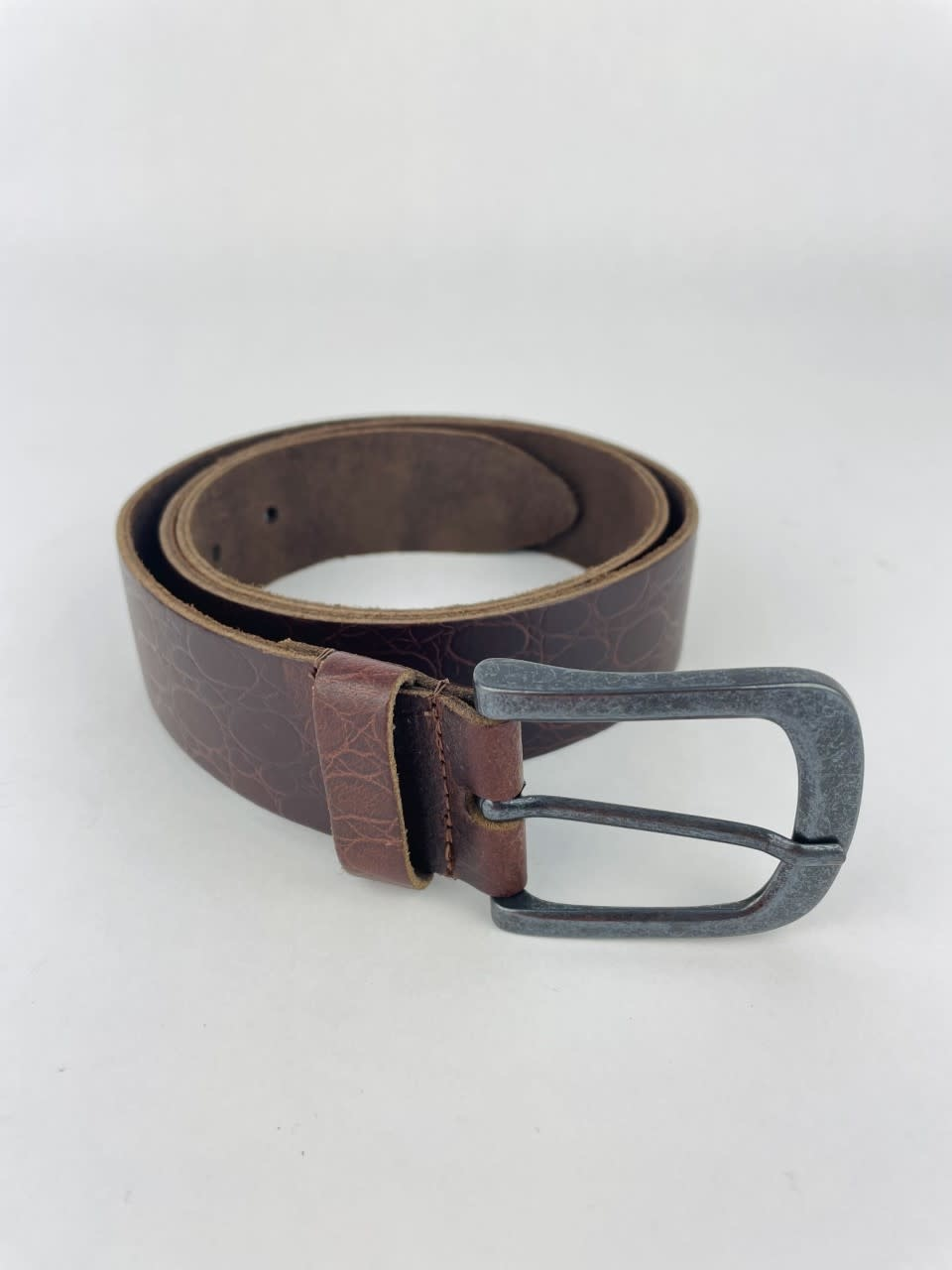 Crolette leather belt Brown-1