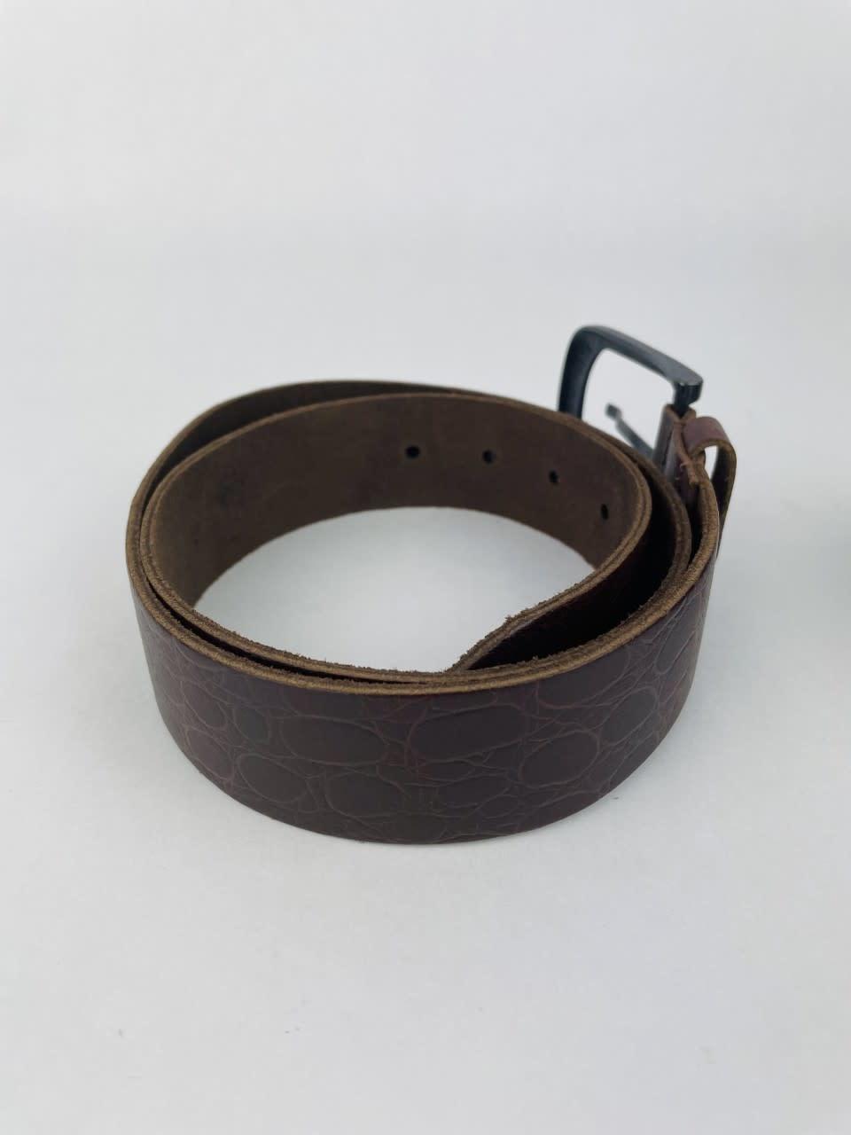 Crolette leather belt Brown-3