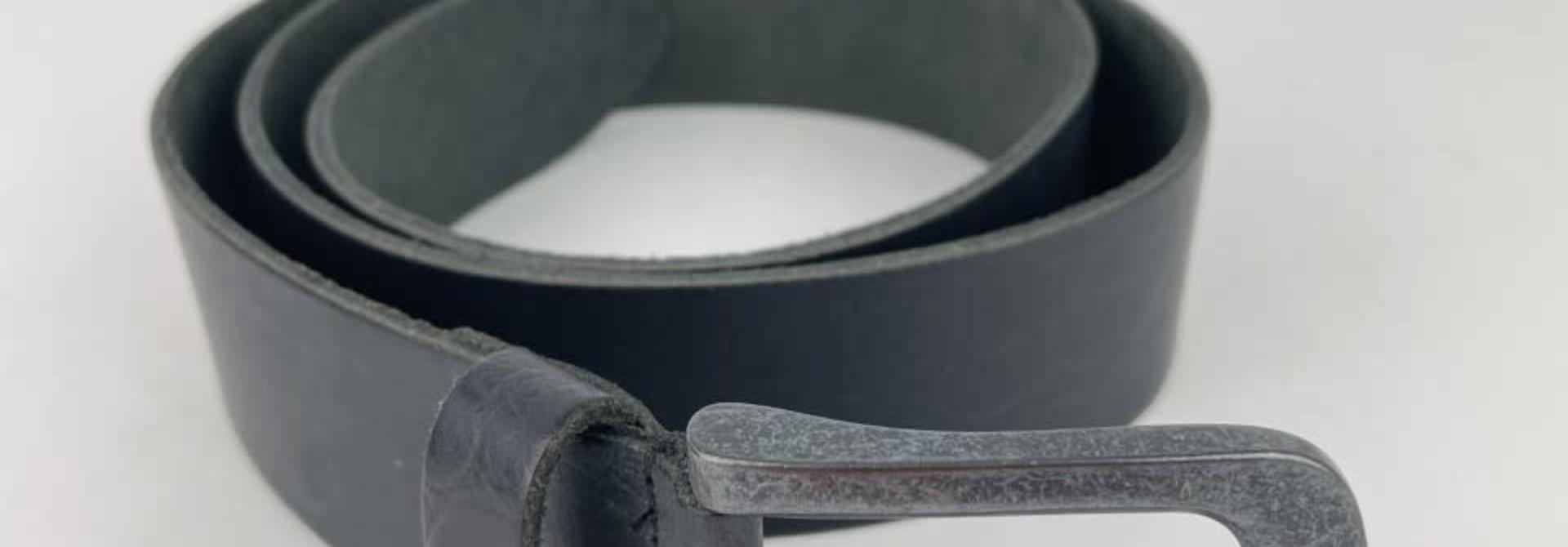 Crolette leather belt Black