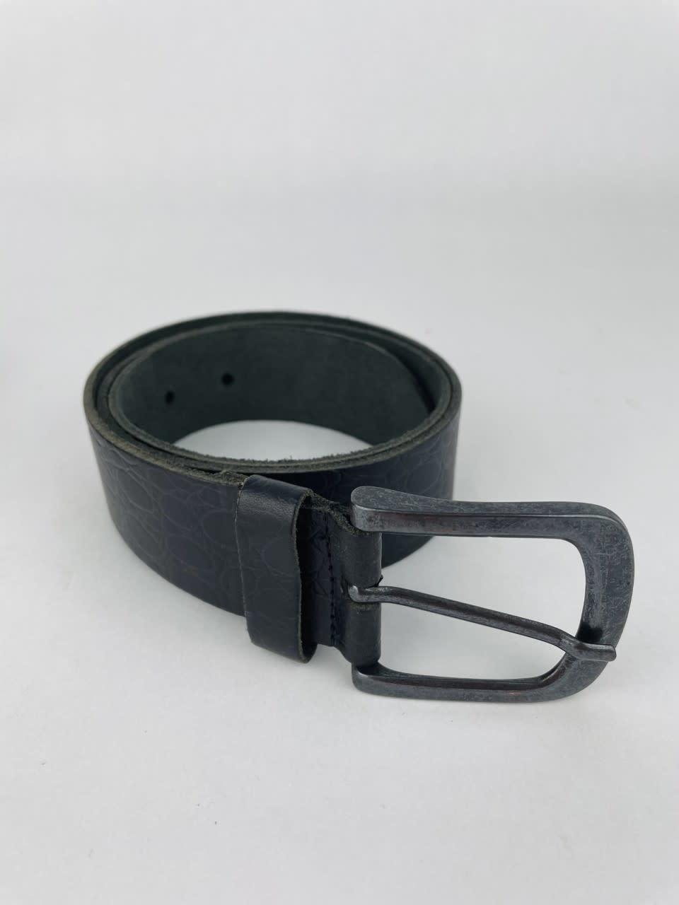 Crolette leather belt Black-4