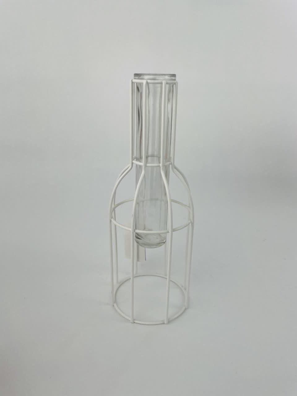 Urban metal mesh vase White-5
