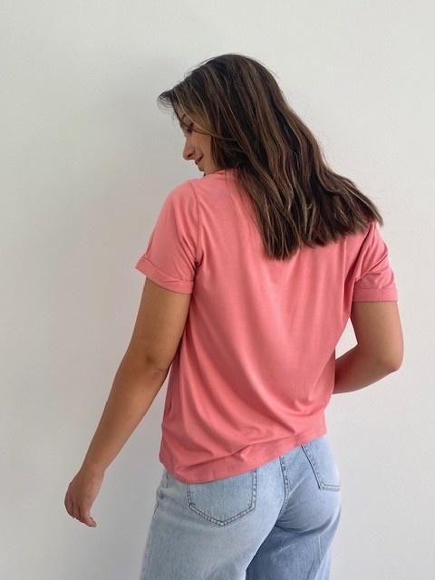 Marjan essential t-shirt Old Rose-3