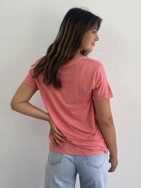 Marjan essential t-shirt Old Rose-4