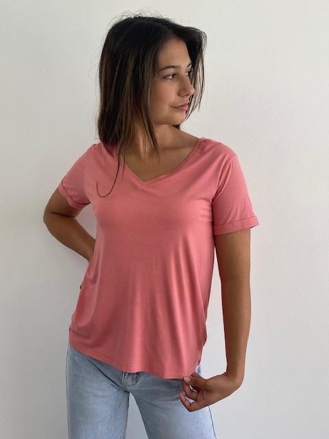 Marjan essential t-shirt Old Rose-1