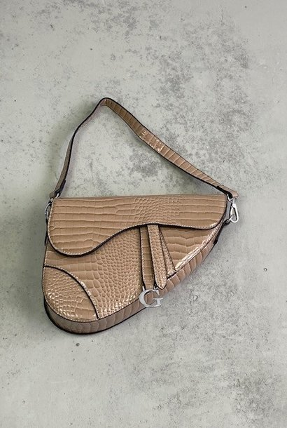 Chenton croco bag Taupe