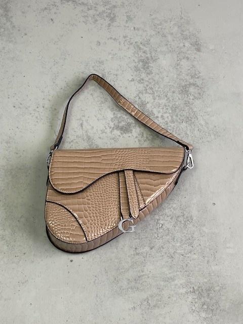 Chenton croco bag Taupe-1