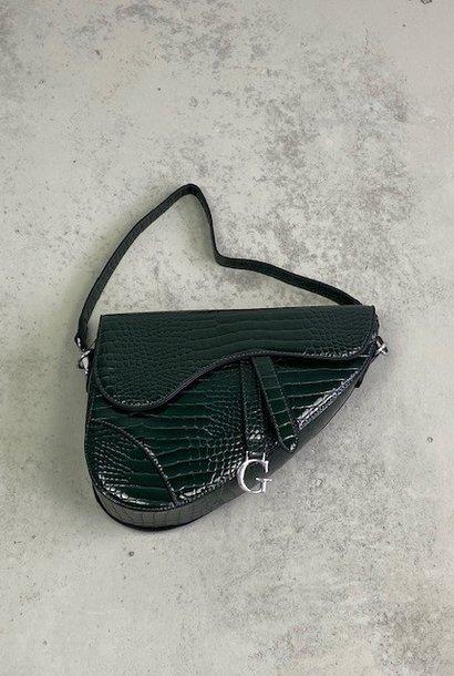 Chenton croco bag Green