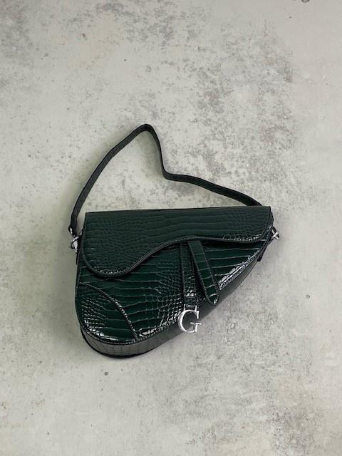 Chenton croco bag Green-1