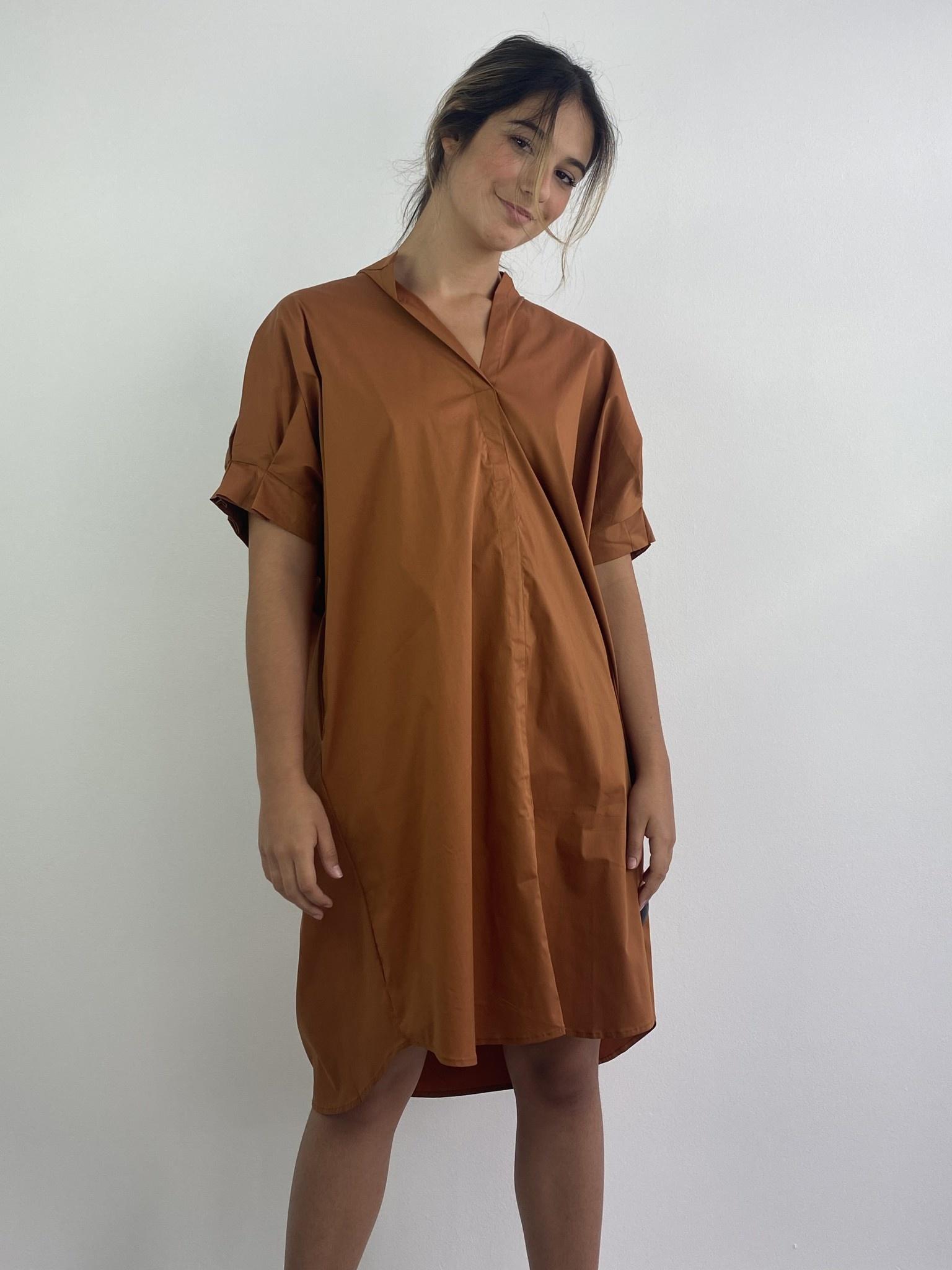 Brianna oversized dress Camel-1