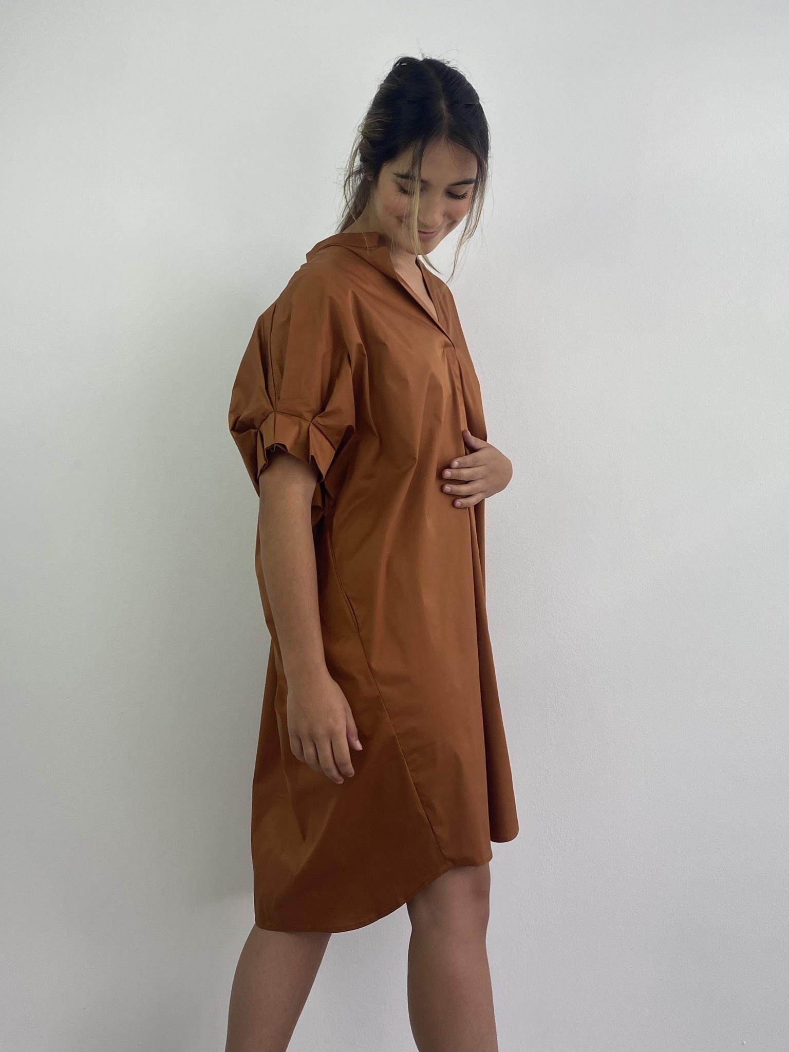 Brianna oversized dress Camel-2