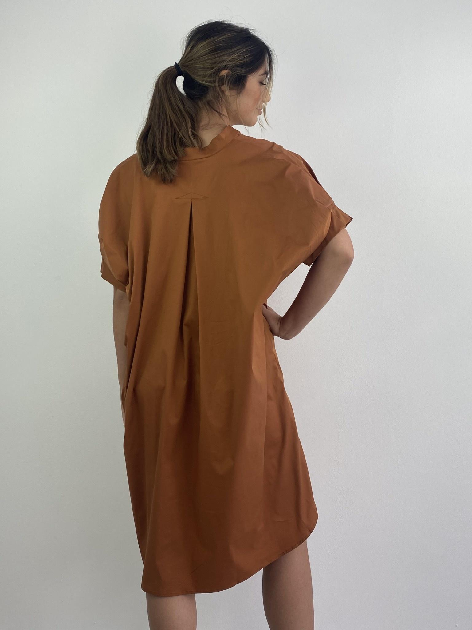 Brianna oversized dress Camel-3