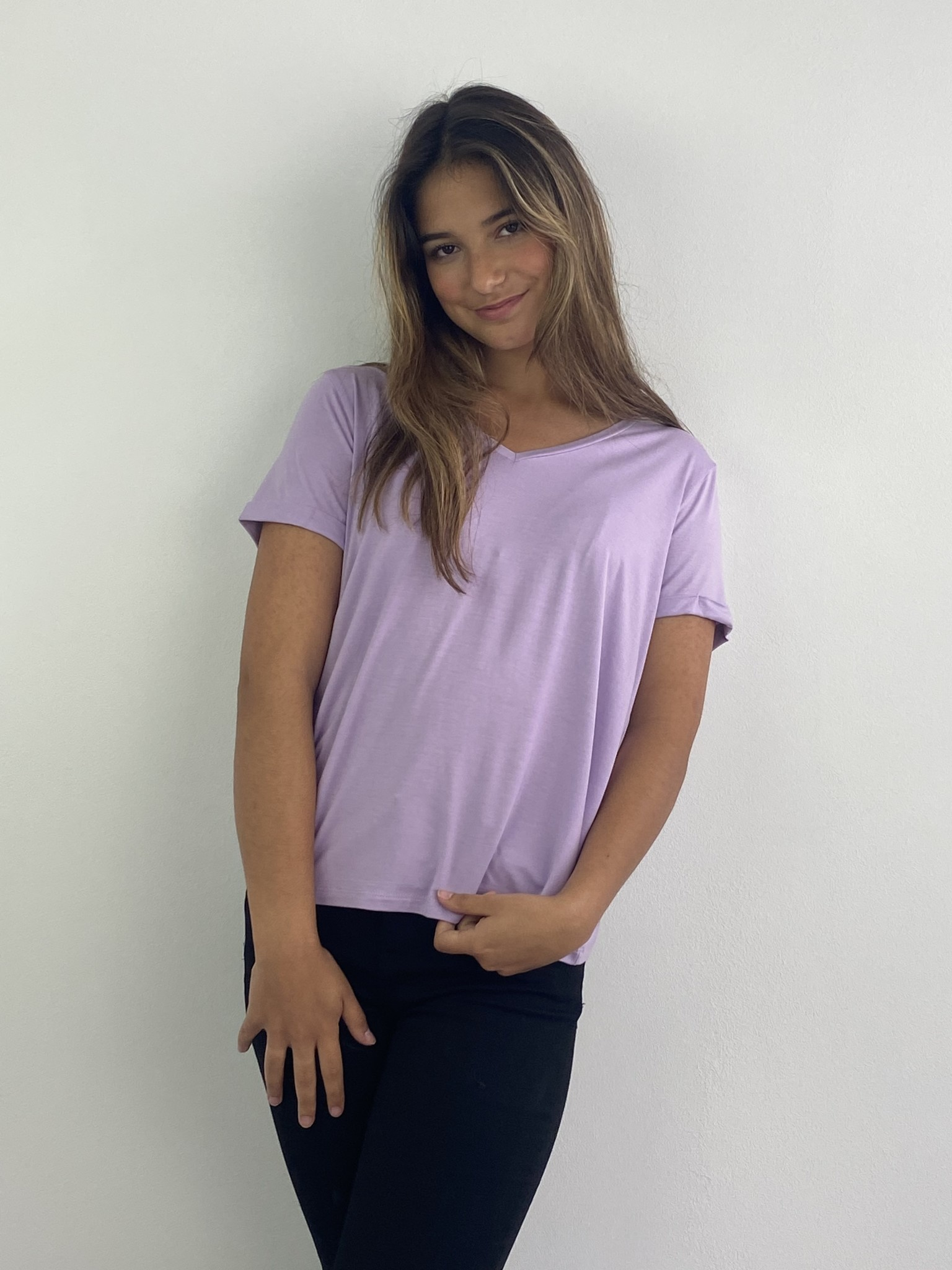 Marjan essential t-shirt Lila-1