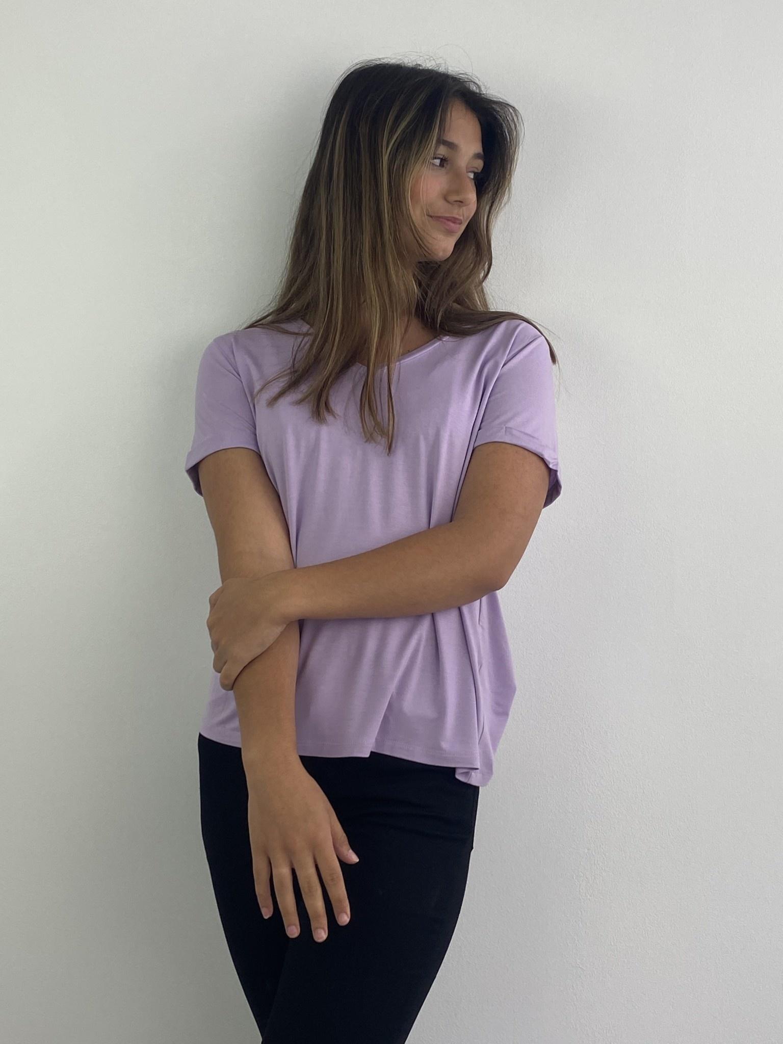 Marjan essential t-shirt Lila-3