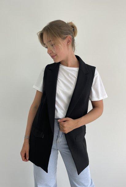 Romy sleeveless blazer Black