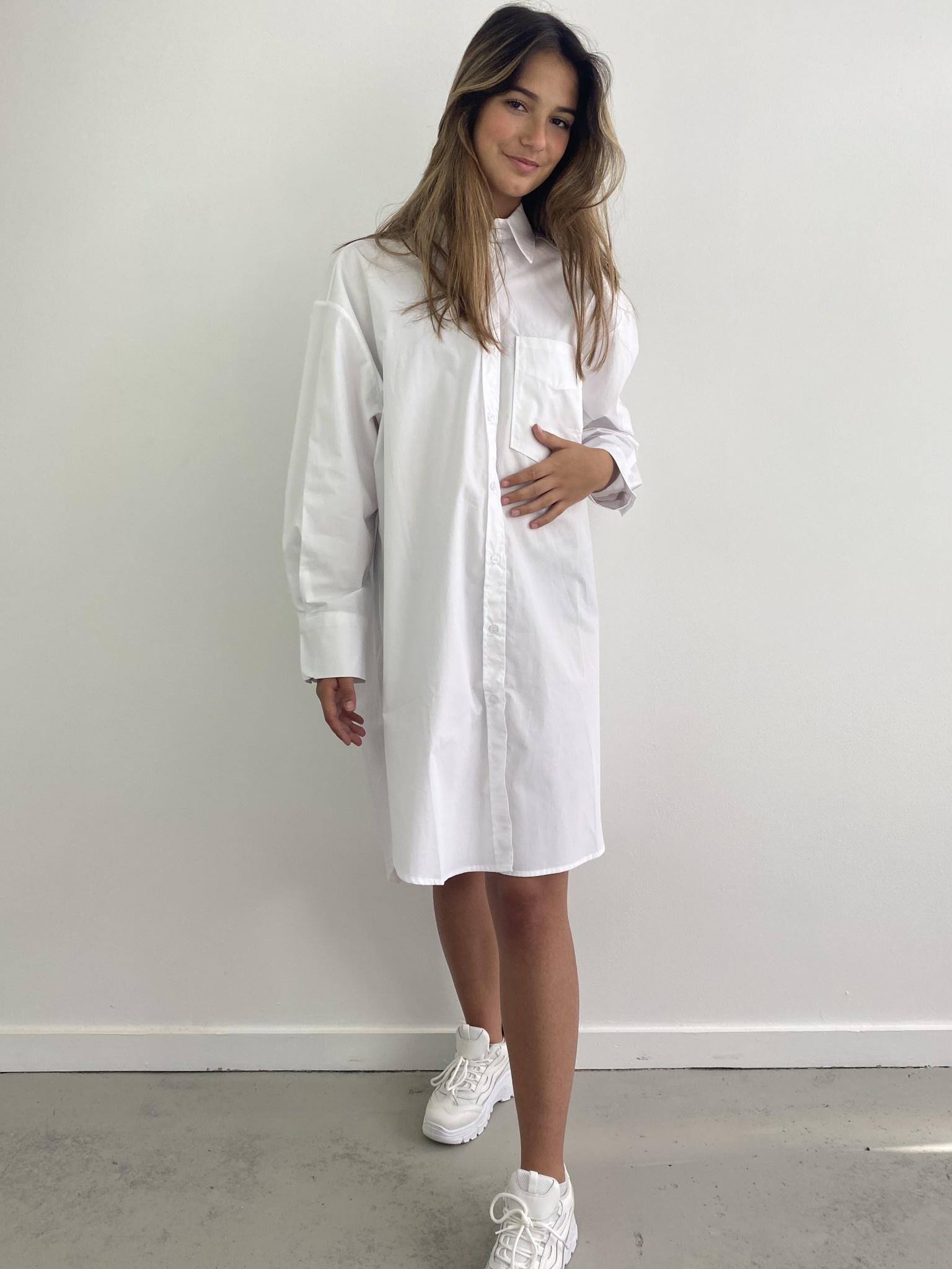 Andrea oversized shirt White-1