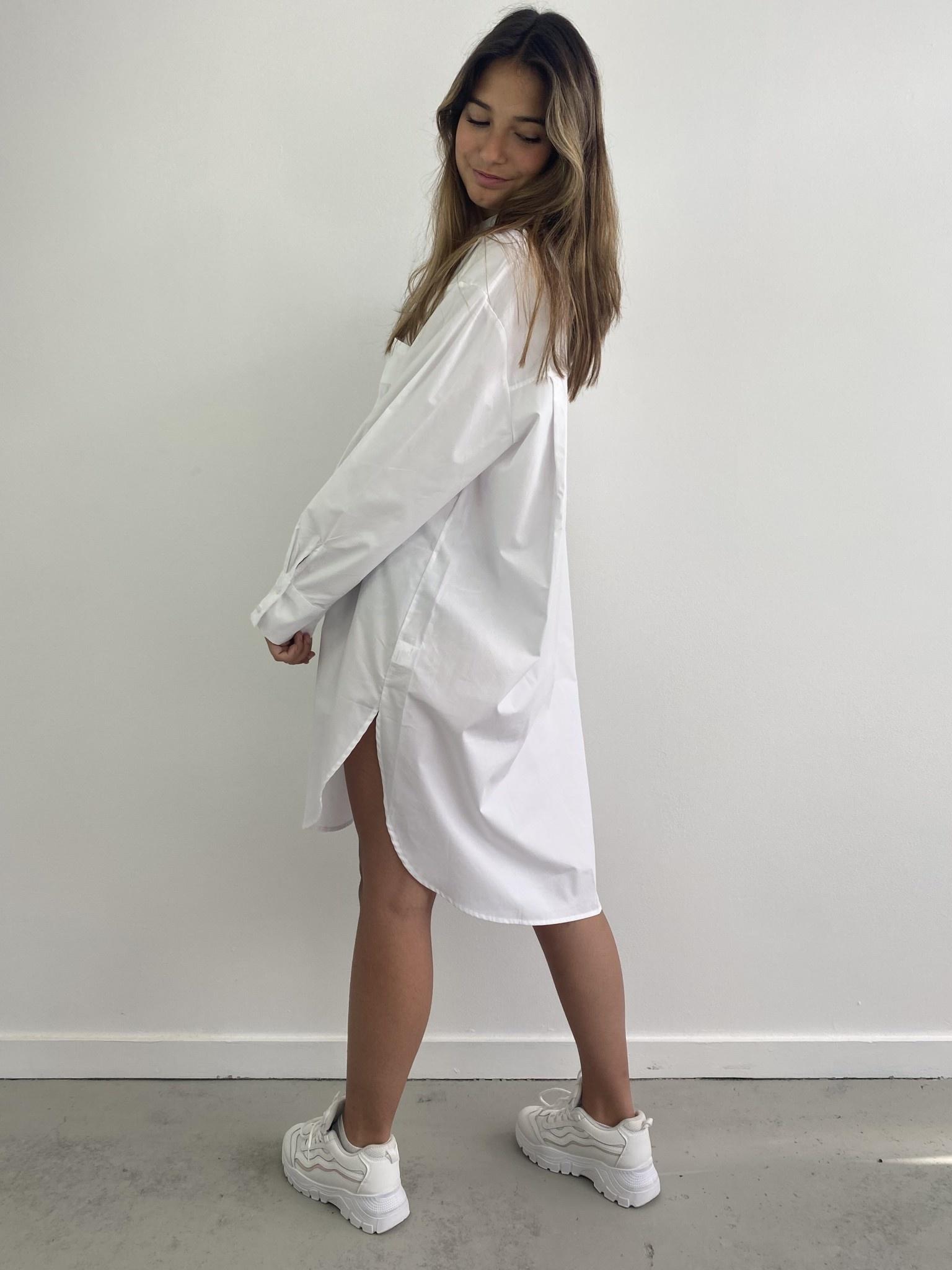 Andrea oversized shirt White-2