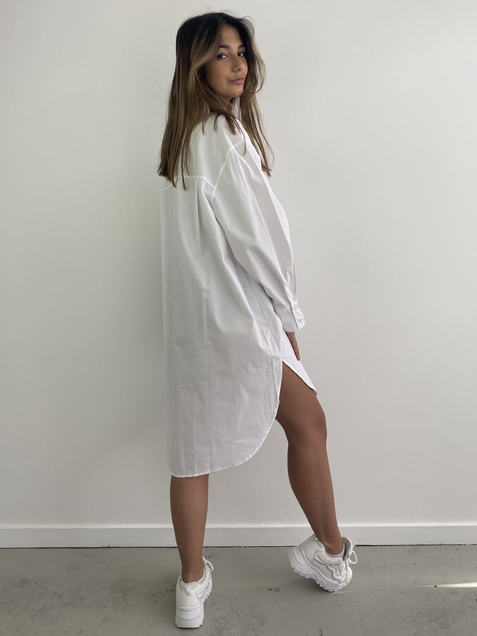 Andrea oversized shirt White-3