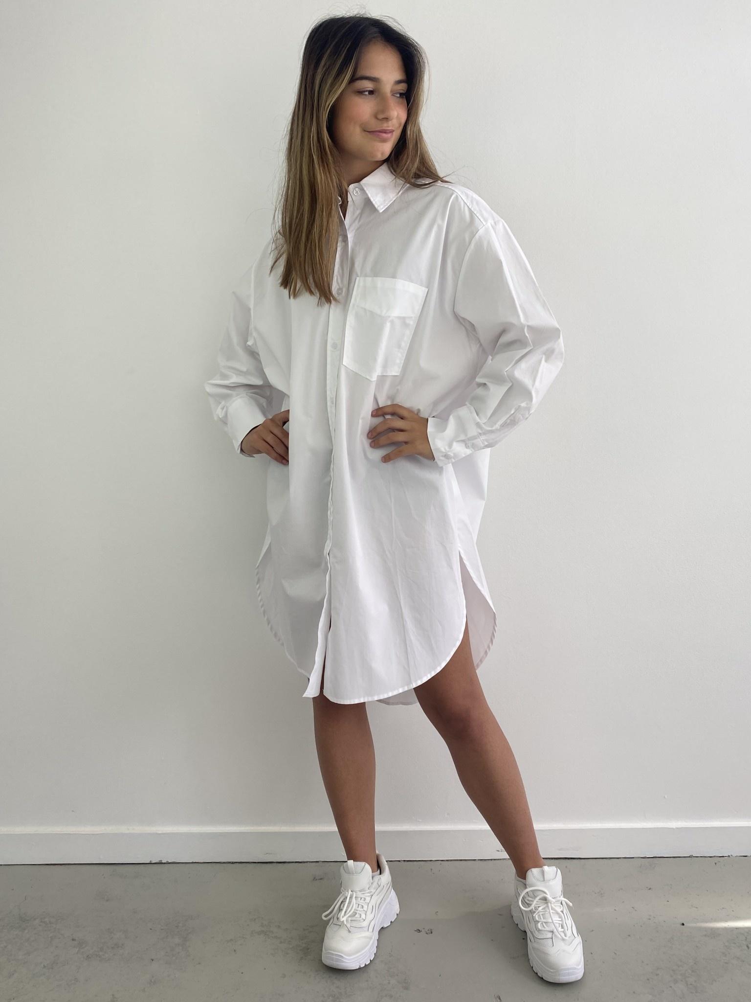 Andrea oversized shirt White-4