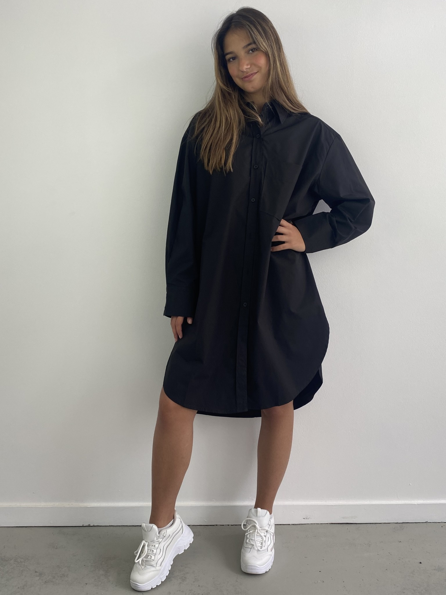 Andrea oversized shirt Black-1