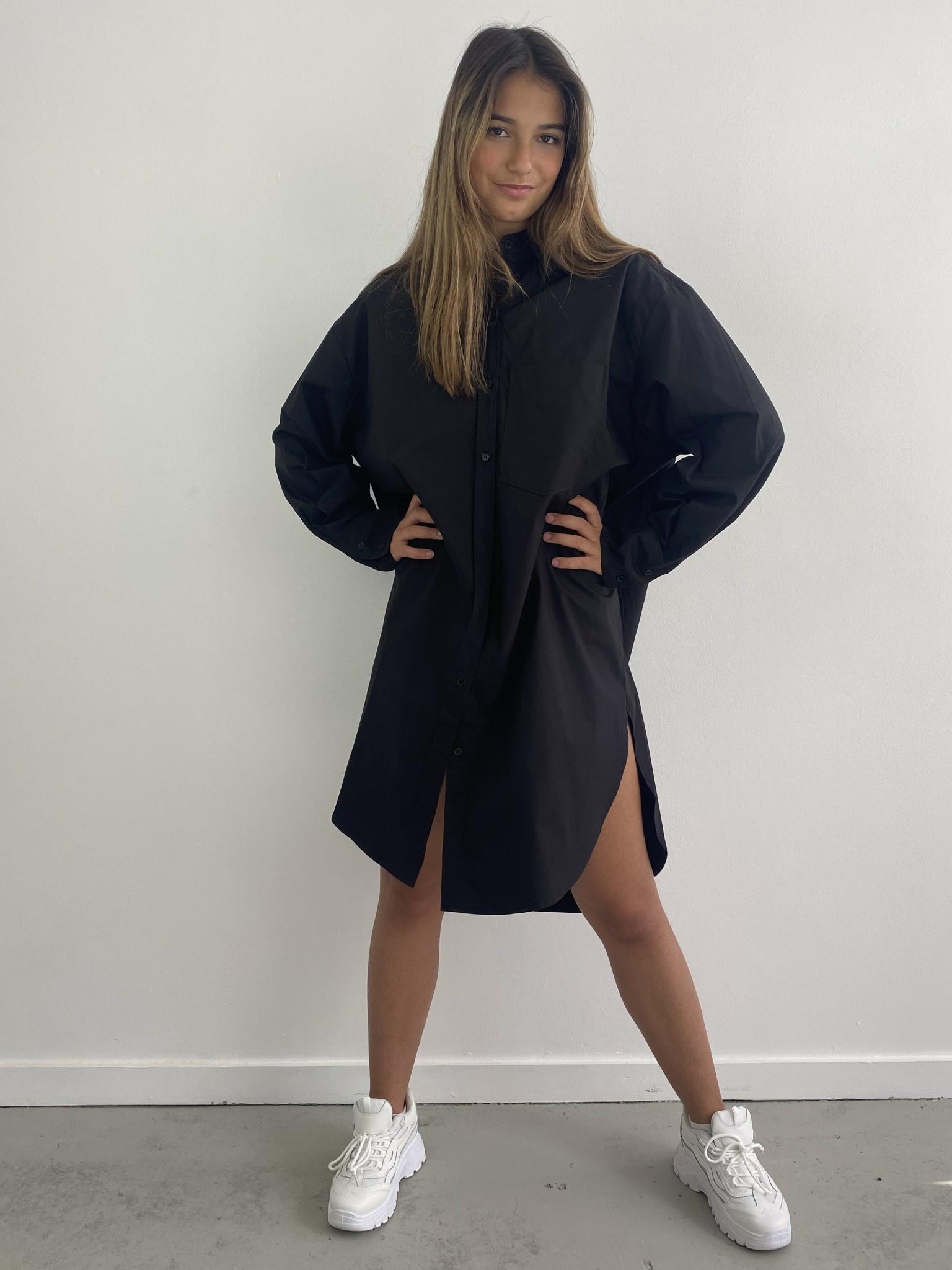 Andrea oversized shirt Black-2