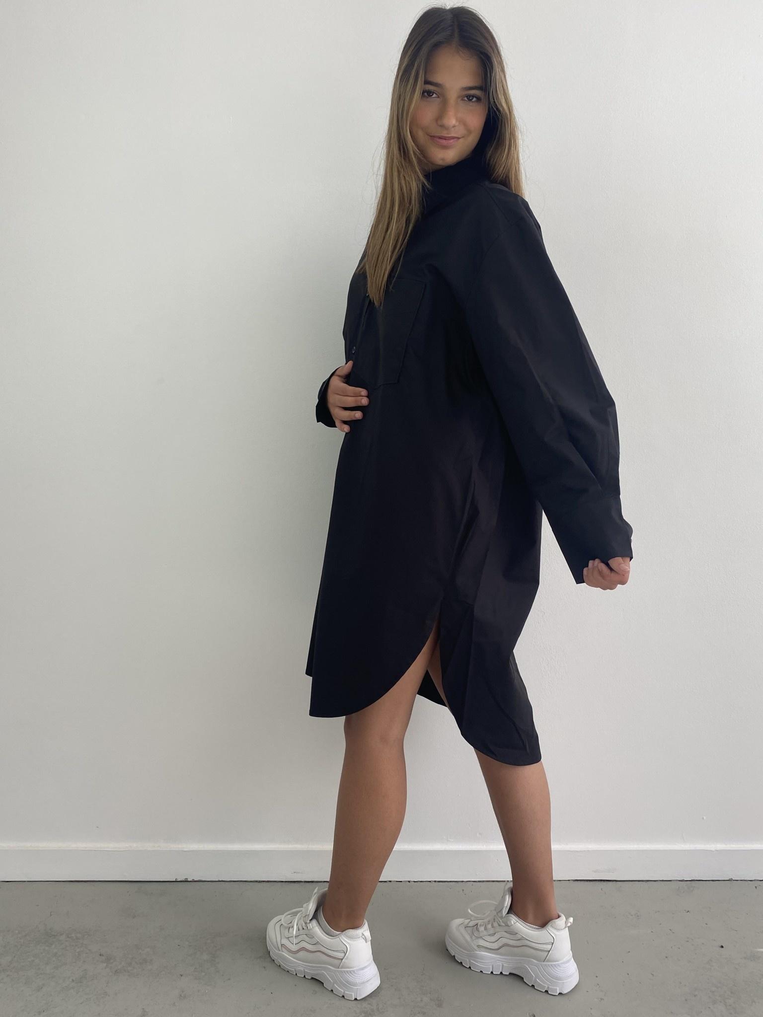 Andrea oversized shirt Black-3