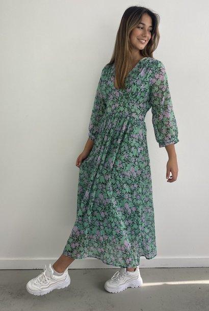 Belinay flower midi dress Green