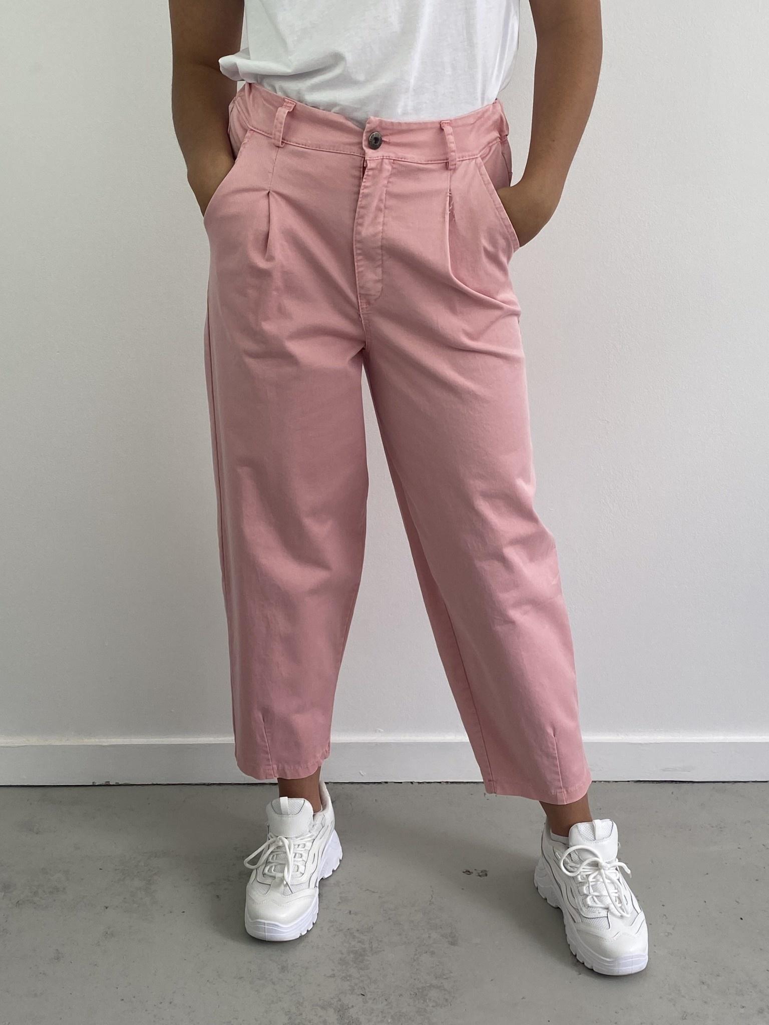 Fraya mom stretch trouser Pink-1