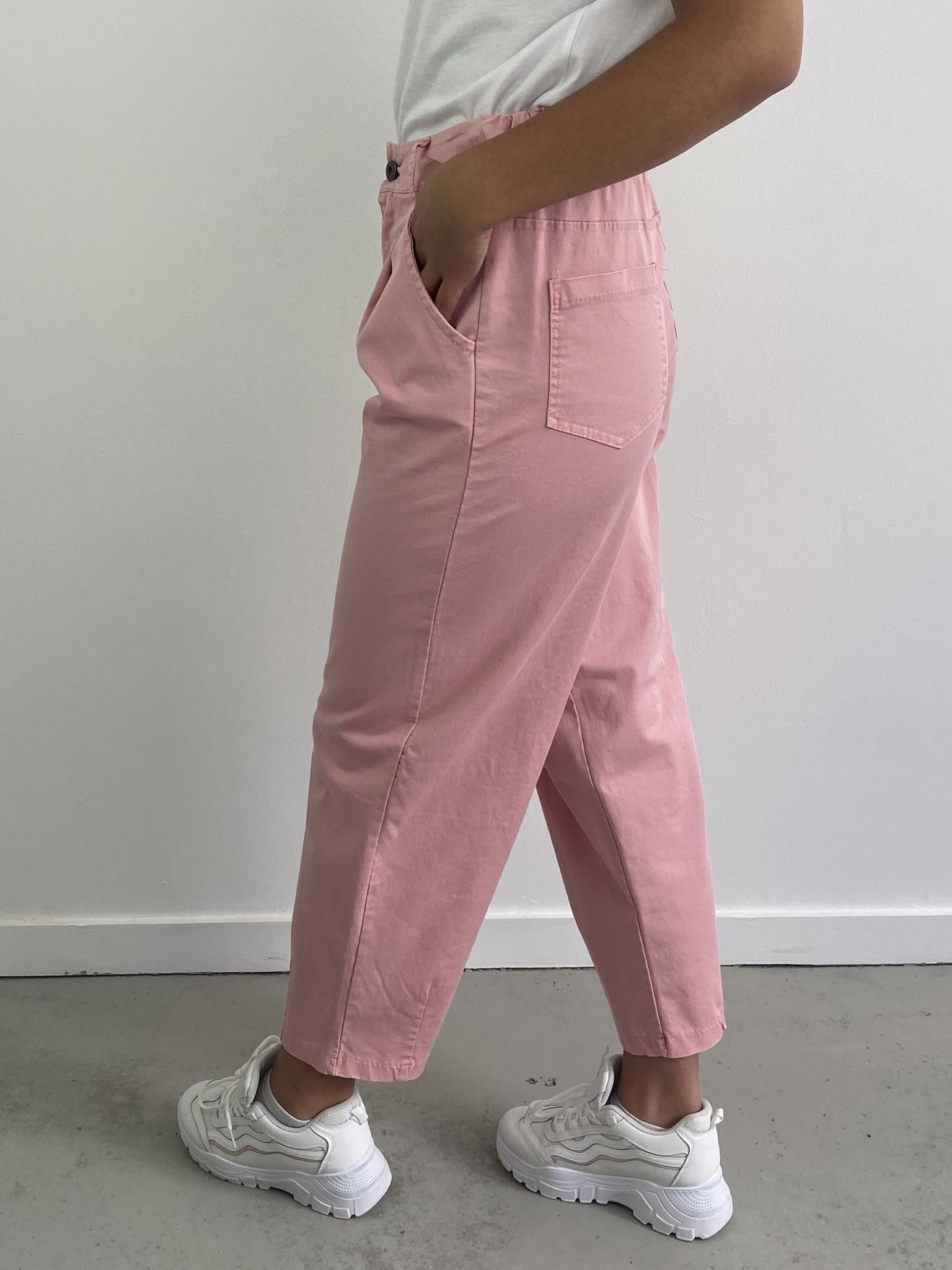 Fraya mom stretch trouser Pink-2