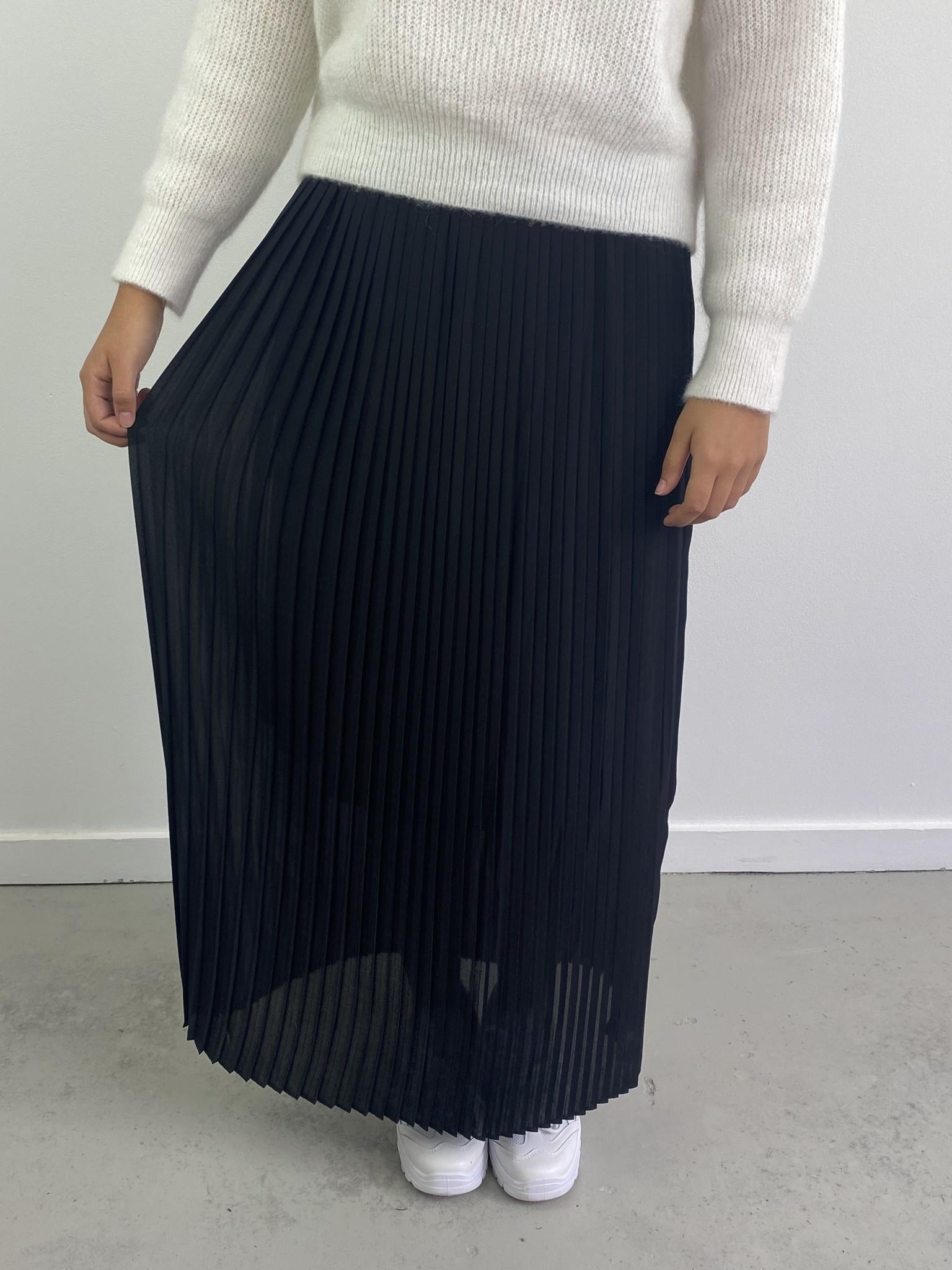 Emanuelle pleated skirt Black-4