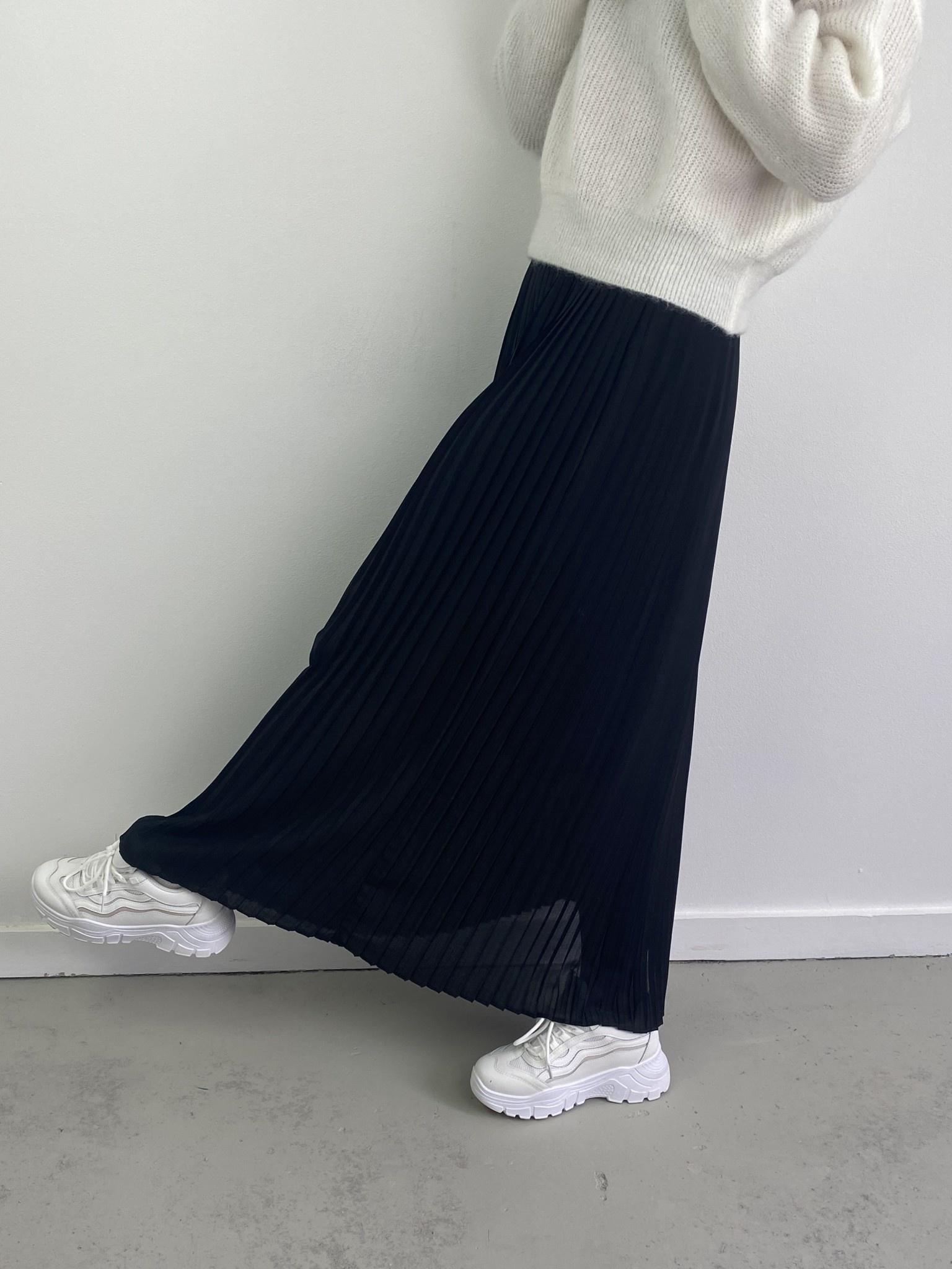 Emanuelle pleated skirt Black-2