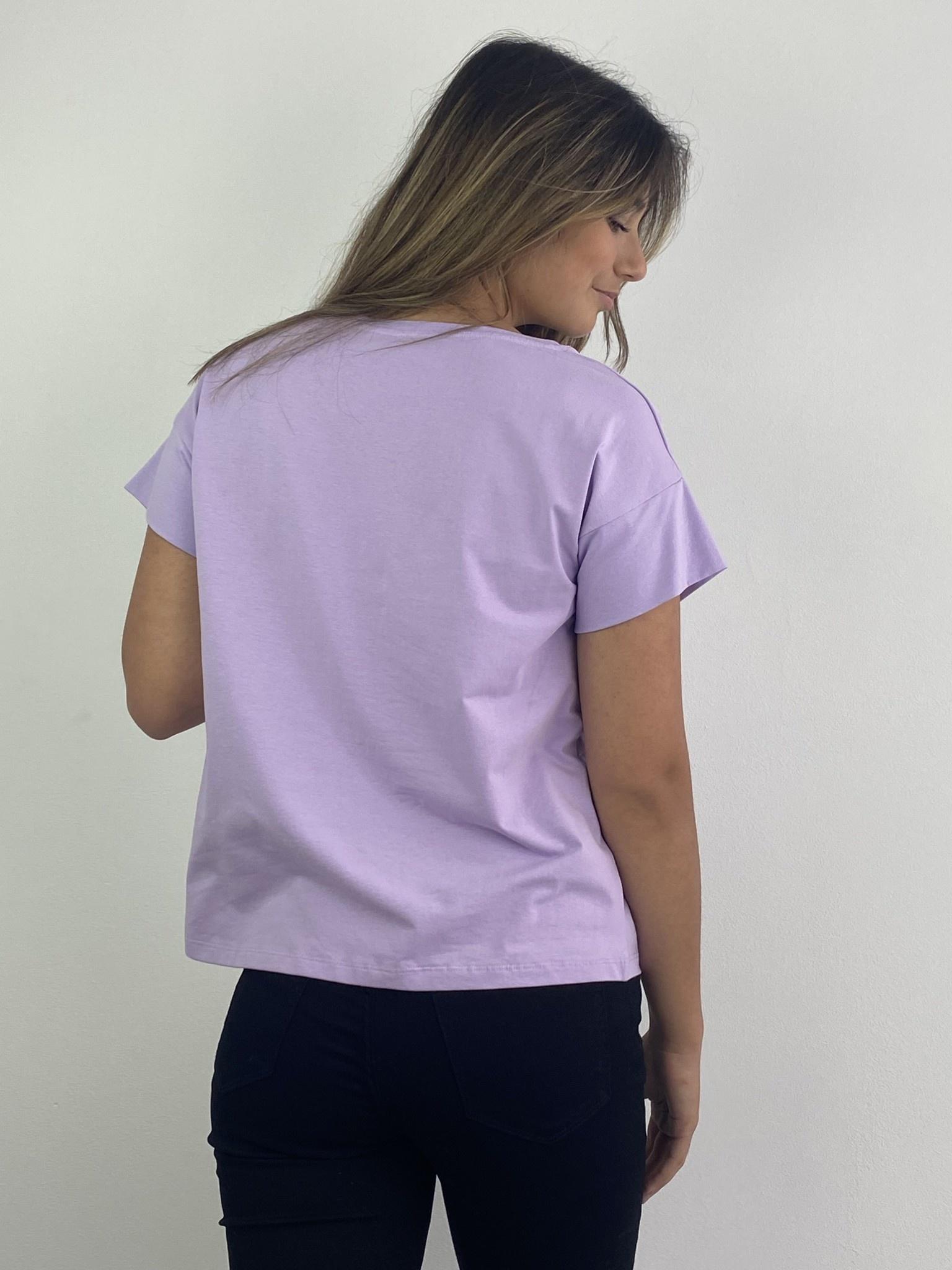 Jacky essential t-shirt Lila-3