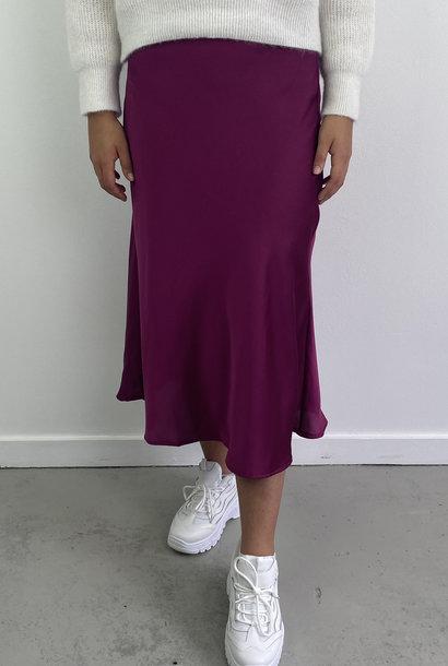 Jenna midi satin skirt Violet